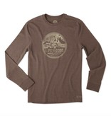 Life is Good M Crusher L/S Truck Coin LIG, Heather Rich Brown