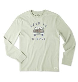 Life is Good M Crusher L/S Simple Tailgate, Dusty Green