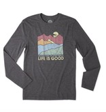 Life is Good M L/S Cool Tee Easy Perfect Good, Night Black