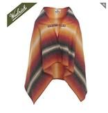 Fireside Wool Blanket Poncho, Black Stripe