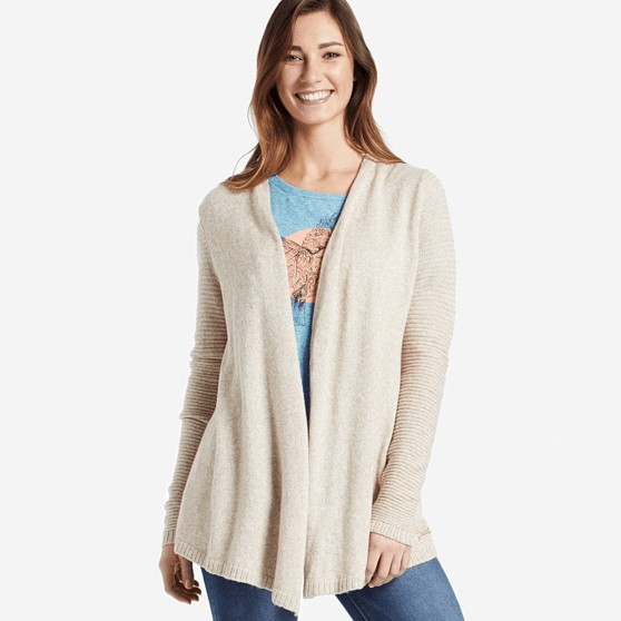 Life is Good W Wander Free Sweater, Heather Mocha