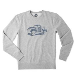 Life is Good M Go-To Crew Truck, Heather Gray