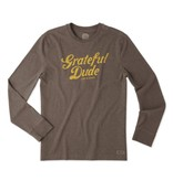 Life is Good M Crusher L/S Grateful Dude Thanks, Heather Rich Brown