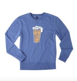 Life is Good M Go-To Crew Peace Love Hoppin, Vintage Blue