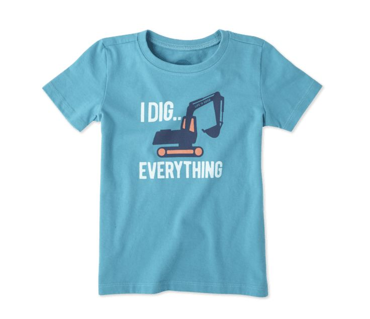 Life is Good T S/S Toddler Tee I Dig Everything, Cool Turquoise