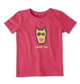 Life is Good T S/S Toddler Tee I Woof You, Pop Pink