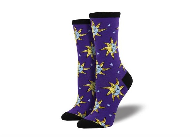 Socksmith Women's Celestial, Purple
