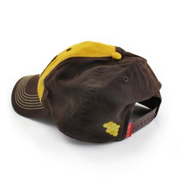 S.L. Revival Co. Everyday Ballcap, Unstructured, Honey Bee, Yellow and Brown
