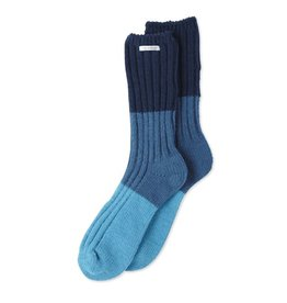 Life is Good W Chenille Socks Tricolor, Sea Blue