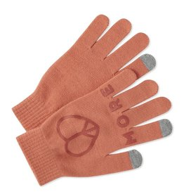 Life is Good W Texting Gloves, Fresh Coral