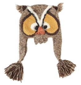Kids Owl Earflap Hat, Handmade