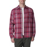 Grayers Men's Millbrook 3 ply Jaspe Luxury Flannel, Burgundy Plaid
