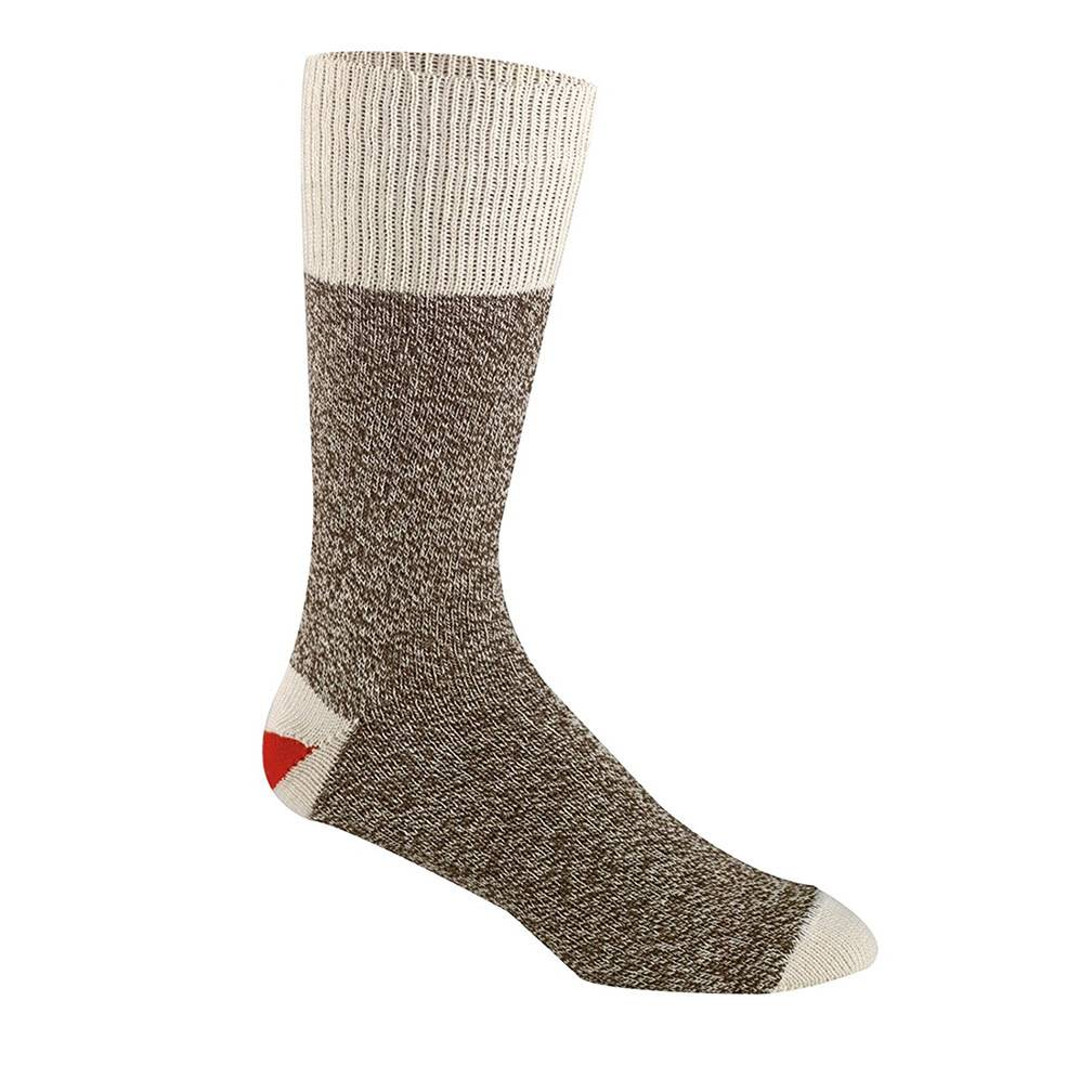 FoxRiver Original Rockford Red Heel Monkey Sock, Brown
