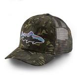 Patagonia Fitz Roy Trout Trucker Hat, Big Camo: Fatigue Green
