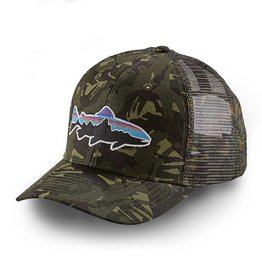 Patagonia Fitz Roy Trout Trucker Hat, Big Camo: Fatigue Green