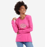 Life is Good W Hooded Smooth Daisy Love, Fiesta Pink