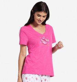Life is Good W Snuggle Up Sleep Flip Flop Dreams, Fiesta Pink