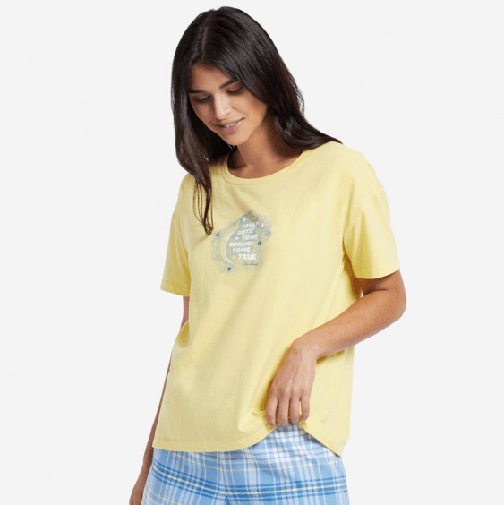 Life is Good W Snuggle UpDream Moon, Happy Yellow
