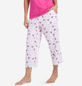 Life is Good W Cropped Sleep Pant Flip Flop Toss, Cloud White
