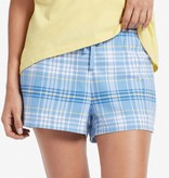 Life is Good W Plaid Sleep Shorts, Powder Blue