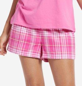 Life is Good W Classic Sleep Plaid Shorts, Tropical Pink