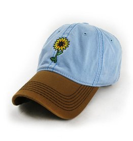 S.L. Revival Co. Sunflowers Make Me Smile Mom's Hat, Sky Blue
