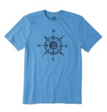 Life is Good M LIG COMPASS CRUSHER TEE, Marina Blue