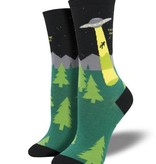 Socksmith W's Alien Abduction Socks, Black