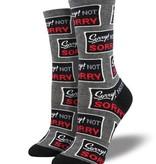 Socksmith W's Sorry Not Sorry, Gray Heather