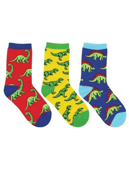Socksmith Dino-Mite Kids Socks 3-Pack