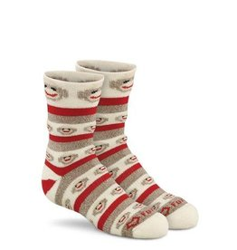 FoxRiver Kids Monkey Stripe, Brown Heather