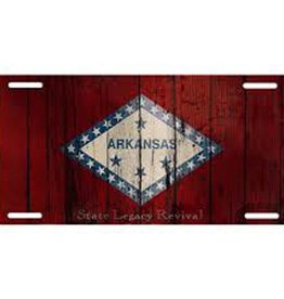 S.L. Revival Co. Arkansas Flag Vintage License Plate