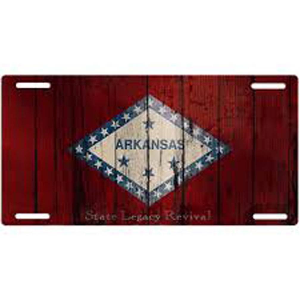 S.L. Revival Co. Arkansas Flag Vintage License Plate