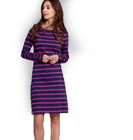 Boat Neck Dress, Preppy Nautical Stripe
