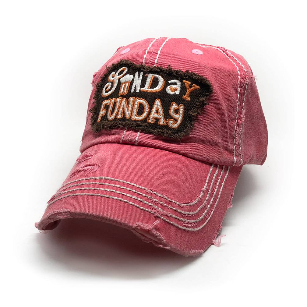 Trailer Trash Love Sunday Funday Hat, Pink