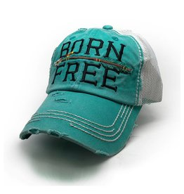Trailer Trash Love Born Free Hat, Turquoise Blue