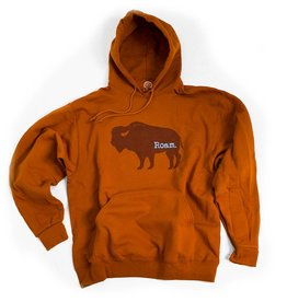 S.L. Revival Co. Wild Things Buffalo Roam Hoodie, Sunset Orange