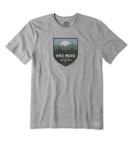 Life is Good M Crusher Tee Hike More, Heather Gray