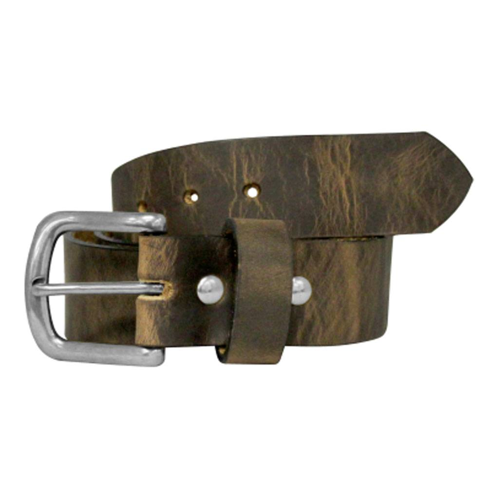 Rawhide Leather, Antique Silver Buckle