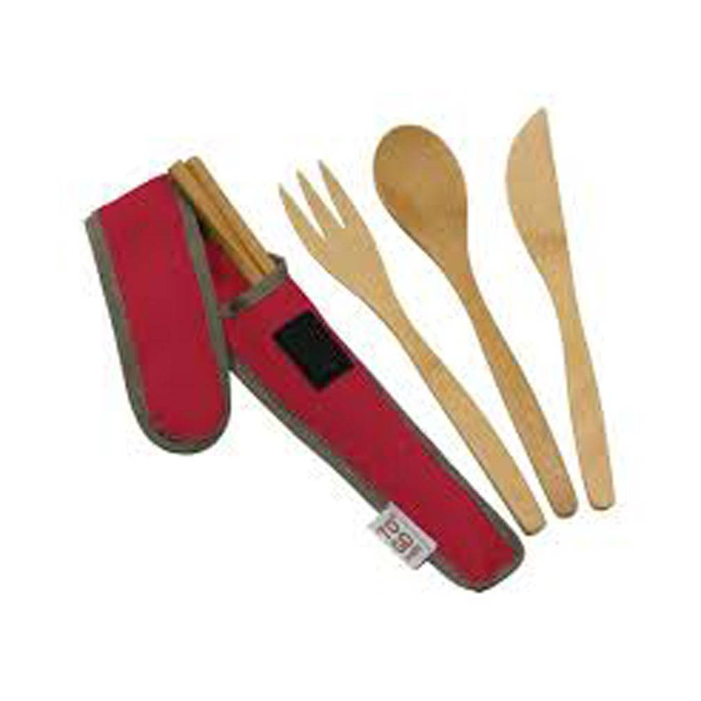 ChicoBag TO GO WARE, UTENSIL SET - RED