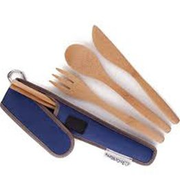 ChicoBag TO GO WARE, UTENSIL SET - DARK BLUE