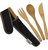 ChicoBag TO GO WARE, UTENSIL SET-BLACK