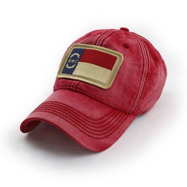 S.L. Revival Co. North Carolina Flag Patch Ballcap, Nautical Red