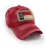 S.L. Revival Co. NC Flag Patch Ballcap, Nautical Red