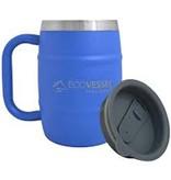 Ecovessel Double Barrel 16oz Mug, Hudson Blue