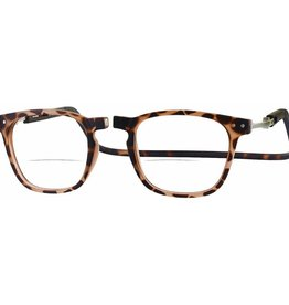 Clic Manhattan Oval Reading Glasses, Tortoise