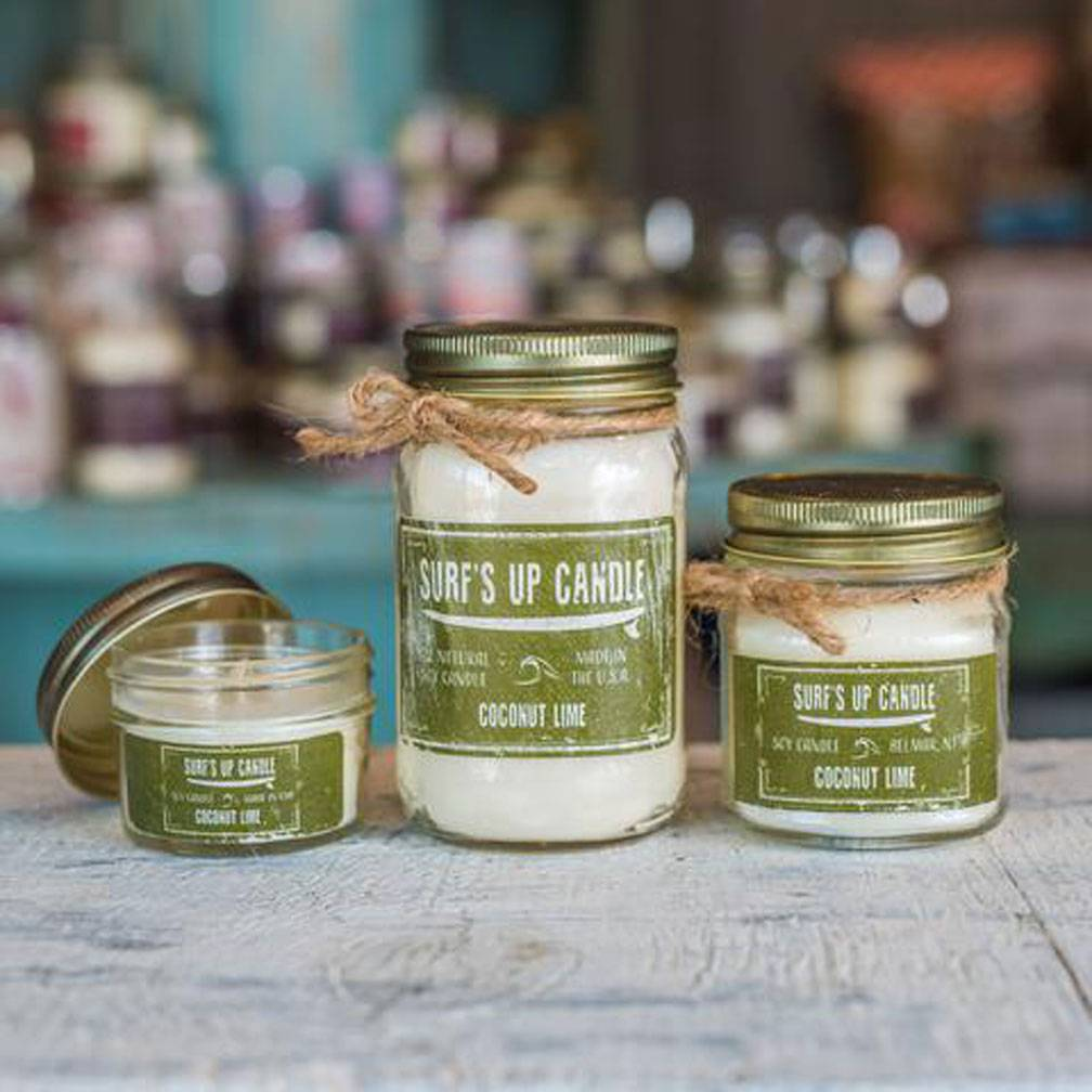 Surf's Up Candle Coconut Lime Mason Jar Candle, 16oz