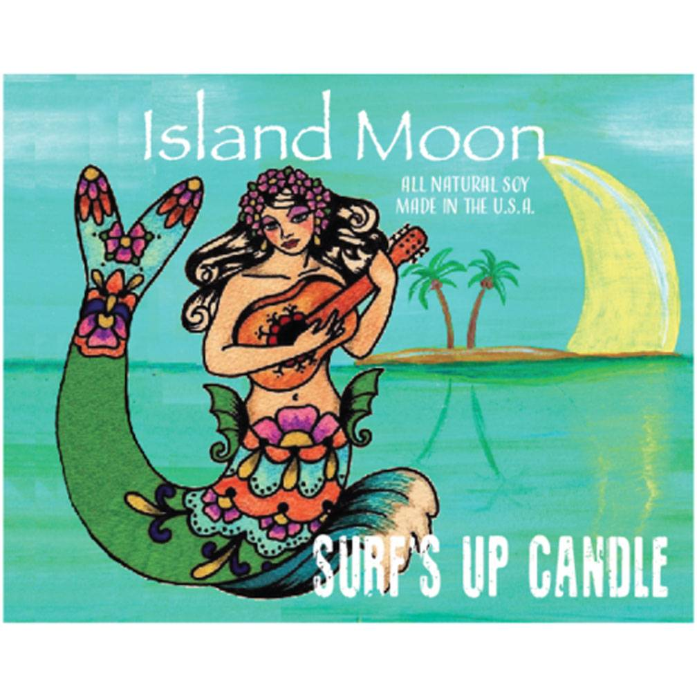 Surf's Up Candle Island Moon Vintage Mason Jar Candle, 8oz
