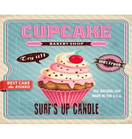 Surf's Up Candle Cupcake Mason Jar Candle, 8oz