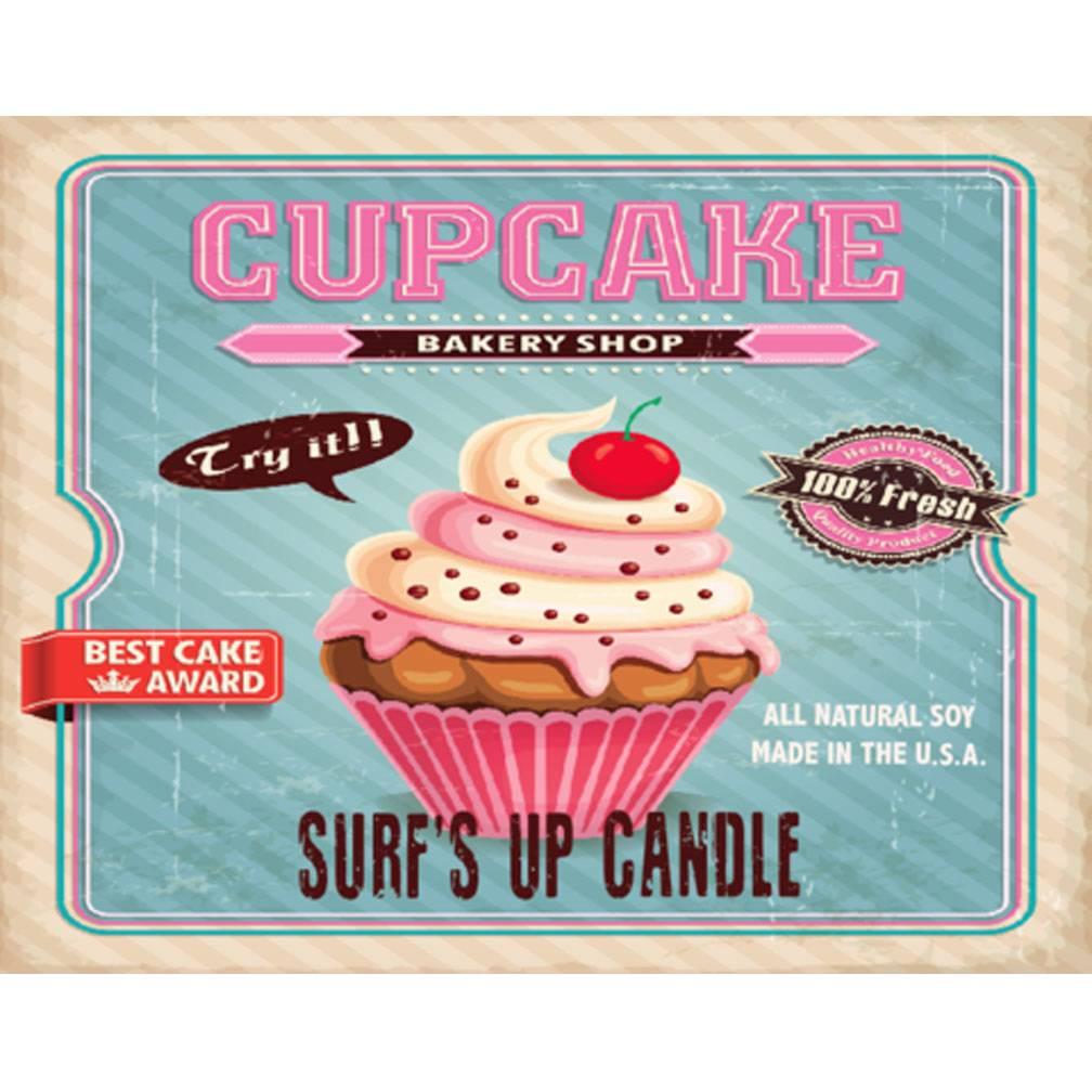 Surf's Up Candle Cupcake Mason Jar Candle, 8oz